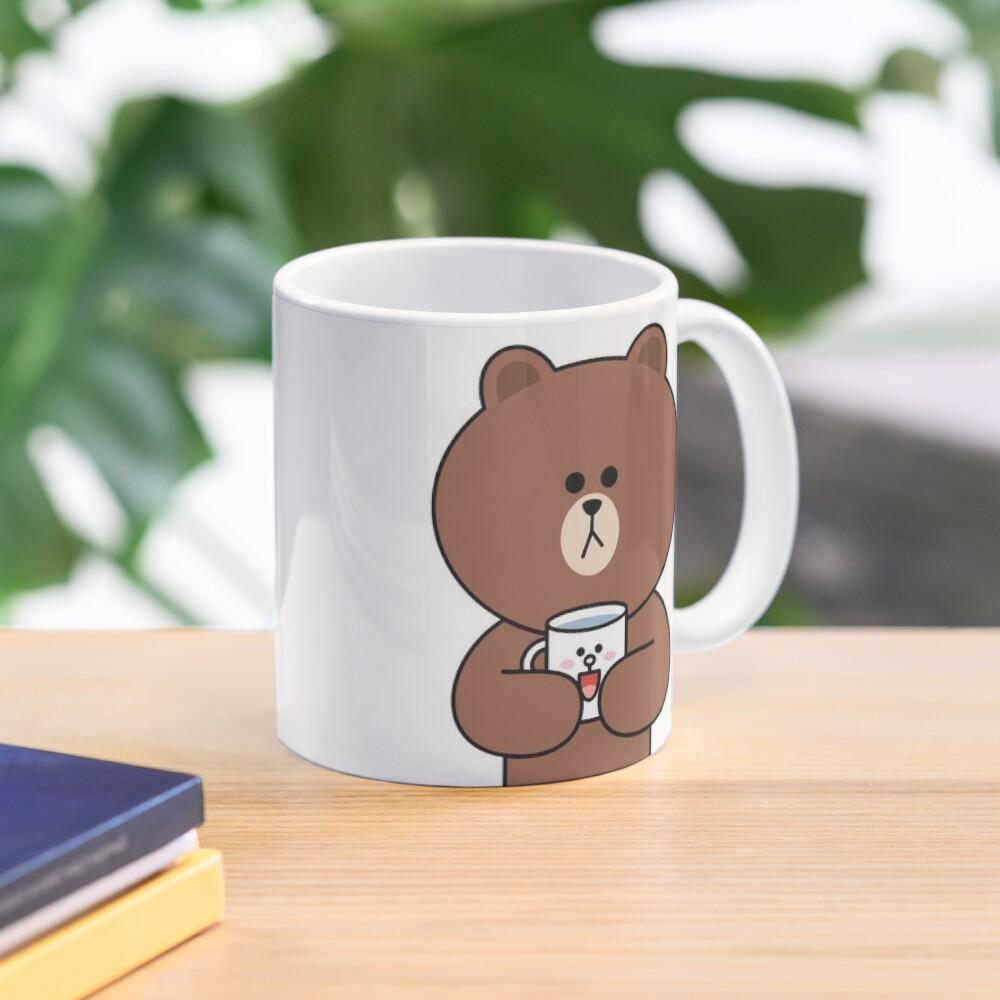 Cute brown bear and Cony Mug
