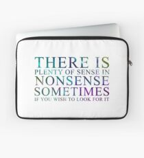 Shadowhunters The Infernal Devices Nonsense Quote Laptop Sleeve