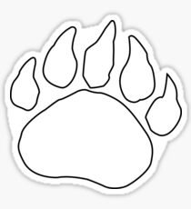 Bear Print- White Sticker