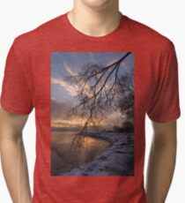 Beautiful Aftermath of an Ice Storm - Sunrise Through Frozen Branches Tri-blend T-Shirt