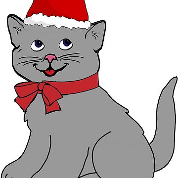 Cartoon Christmas Cat by dzdn