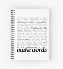 make words (writers) Spiral Notebook