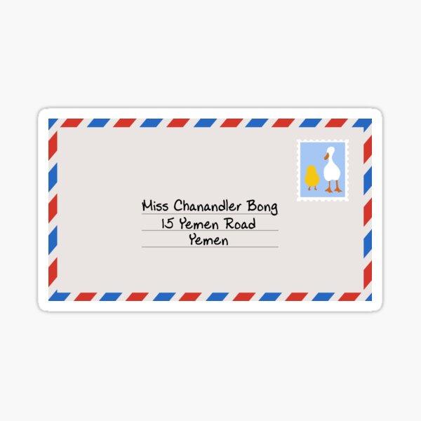 Miss Chanandler Bong Sticker