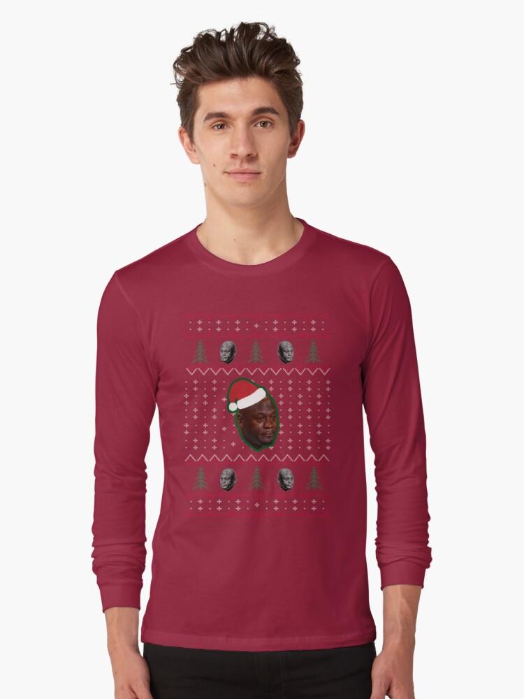 Crying Jordan Christmas Sweater Tri Blend T Shirt By Funnyteeshirts
