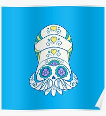 Omanyte Popmuerto | Pokemon & Day of The Dead Mashup Poster
