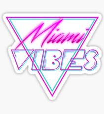 """Miami Vibes"" - Retro Néon 80's Style Sticker"
