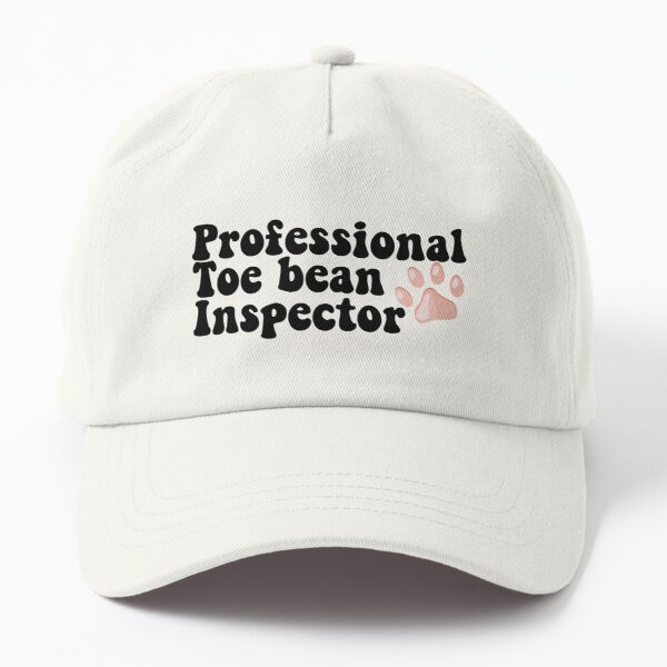 Professional Toe Bean Inspector Vet Tech Pink Paw  Dad Hat