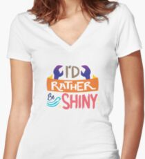 So Shiny Women's Fitted V-Neck T-Shirt