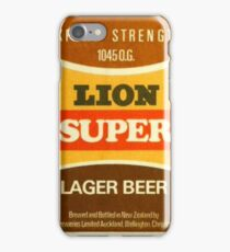 Lion Super Lager Coaster iPhone Case/Skin