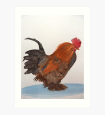 Cockerel Art Print