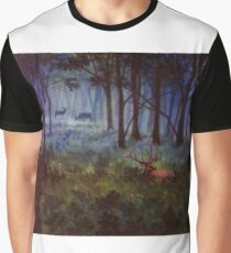 Elk in a Meadow Graphic T-Shirt