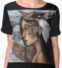 Sky Woman Iroquois Mother Goddess Chiffon Top