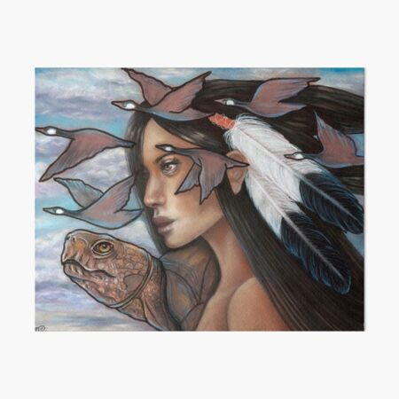 Sky Woman Iroquois Mother Goddess Art Board Print