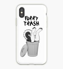 Vinilo o funda para iPhone Basura peluda - Black Husky / Malamute