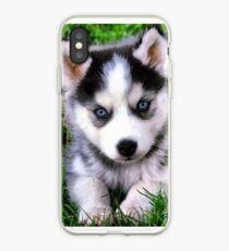 Vinilo o funda para iPhone Beautiful puppy husky!
