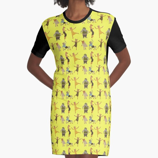 Let Her Dance Graphic T-Shirt Dress