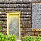 yellow door by Manon Boily