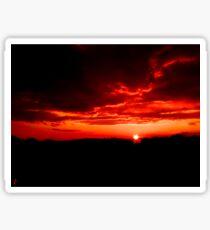 Cloudy sunset Sticker