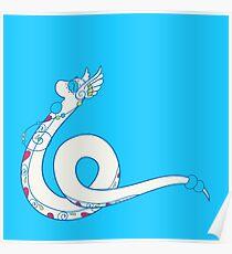 Dragonair Popmuerto | Pokemon & Day of The Dead Mashup Poster