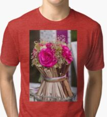 decoration with flowers Tri-blend T-Shirt