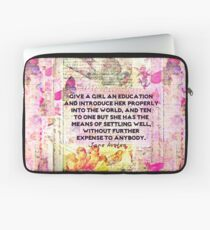 Education quote Jane Austen teacher teaching Laptop Sleeve
