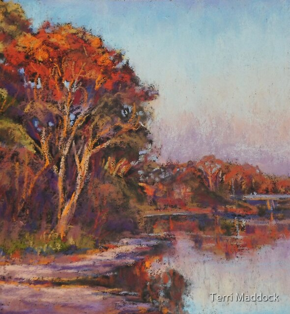 Early morning, Lake Cathie by Terri Maddock