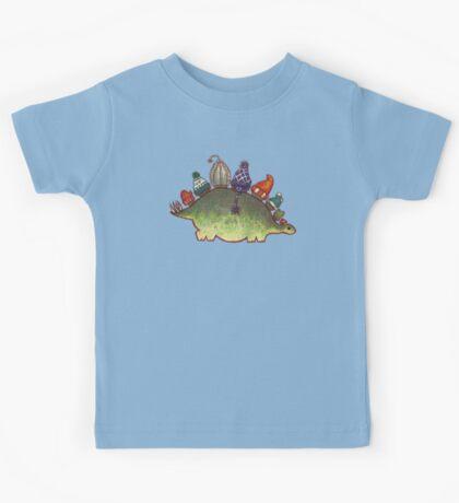 Green Stegosaurus Derposaur with Hats Kids Clothes