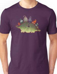 Green Stegosaurus Derposaur with Hats T-Shirt