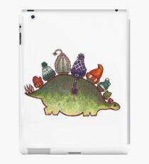 Green Stegosaurus Derposaur with Hats iPad Case/Skin