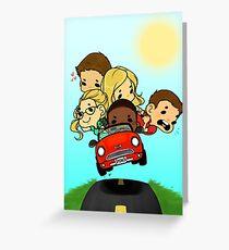 Team Arrow Goes: Road trip!  Greeting Card