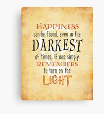 Wizardry - Happiness & Light Canvas Print