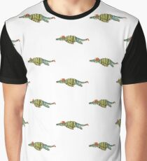 Hipster Liopleurodon Derposaur with Sweater and Ushanka Graphic T-Shirt