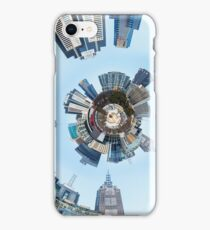 Distorted 3d Cityscape Planet Inside Tunnel iPhone Case/Skin