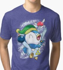 Pokemon Link Piplup Tri-blend T-Shirt
