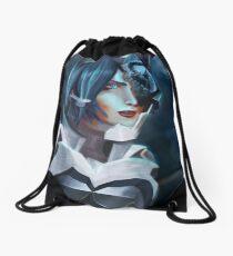Aqua Drawstring Bag