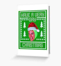 idubbbz christmas sweater 1 Greeting Card