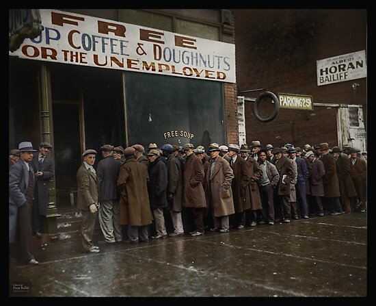Al Capone\'s Soup Kitchen, Chicago, 1931\