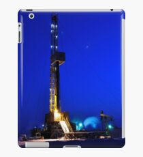 Drilling Rig at Night iPad Case/Skin