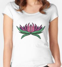 Pink Lotus Women's Fitted Scoop T-Shirt