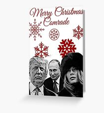 merry christmas from putin and donald trump greeting card