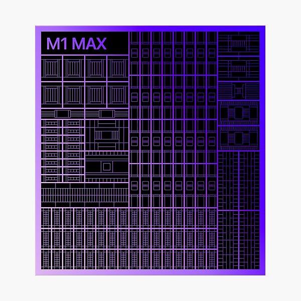 Apple M1 Max Die Shot  Photographic Print