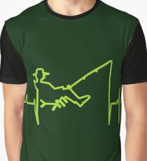 My heart beats for fishing (green) VRS2 Graphic T-Shirt