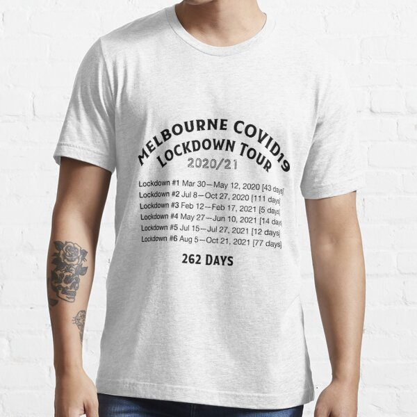 Melbourne COVID19 Lockdown Tour - Dark Text Essential T-Shirt