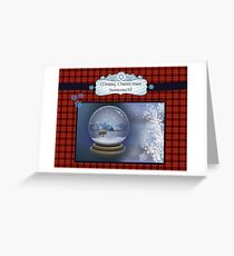 Fraser's Ridge snow globe Greeting Card