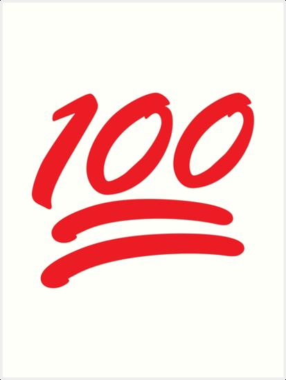 Emoticons Emoji Shirt Keep It 100 Emoji Shirt Art Prints By
