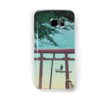 "Silhouette in the ""Torii"" lake side Samsung Galaxy Case/Skin"