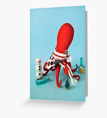Ukulele Octopus Greeting Card