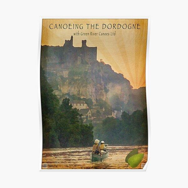 Canoeing on the Dordogne Poster