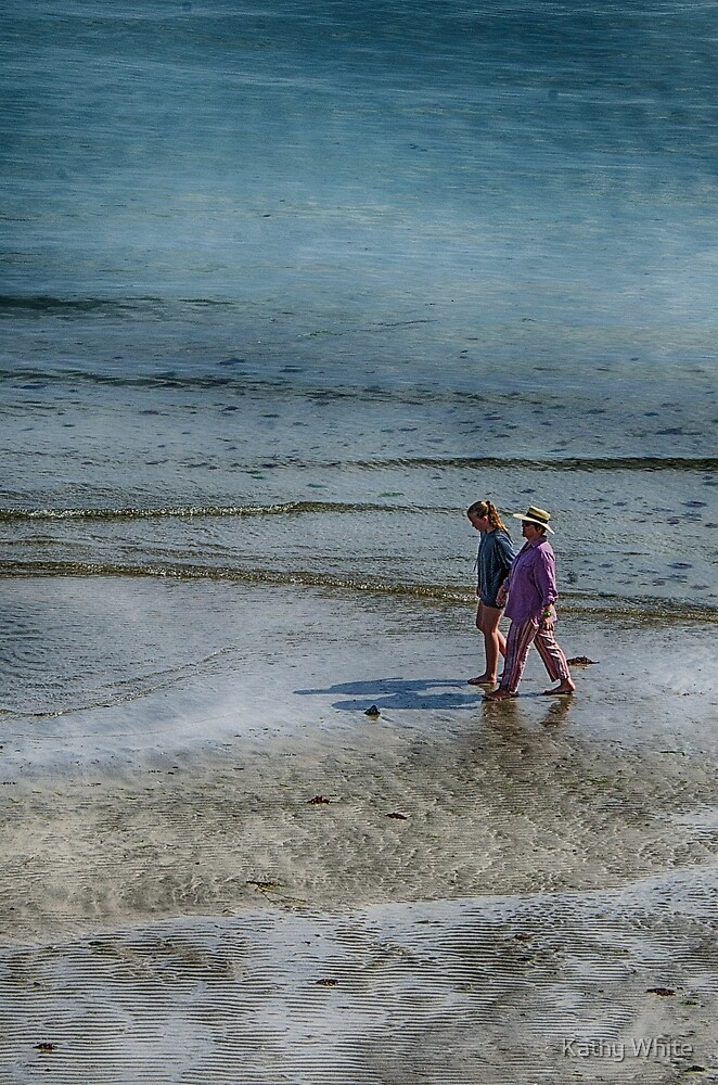 walking on the sand by kathleenjean