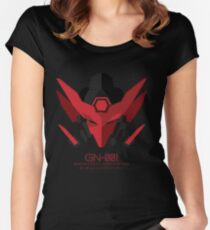 GUNDAM EXIA DUNKELHEIT Tailliertes Rundhals-Shirt